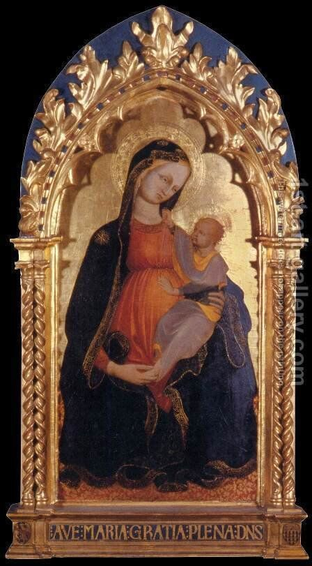 Madonna of Humility by Biagio Sanguigni Battista Di - Reproduction Oil Painting