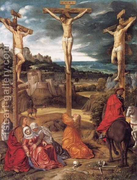 Crucifixion by Giovanni Girolamo Savoldo - Reproduction Oil Painting