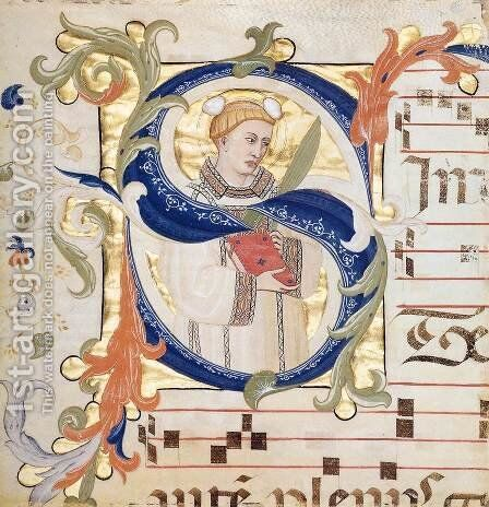 Antiphonary (Folio 51) by Don Simone Camaldolese - Reproduction Oil Painting