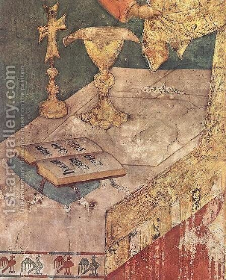 Miraculous Mass (detail) by Simone Martini - Reproduction Oil Painting