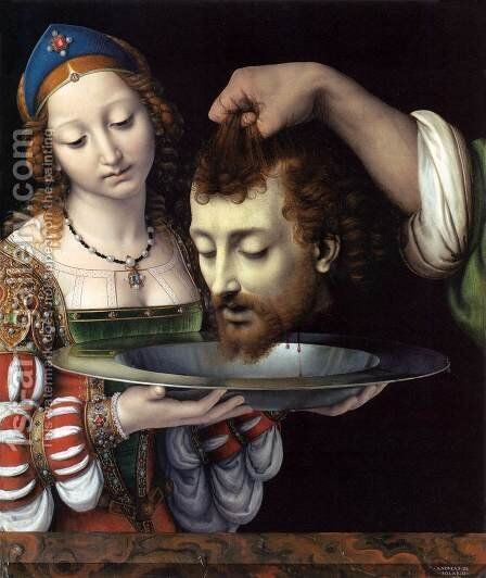 Salome with the Head of St John the Baptist by Andrea Solario - Reproduction Oil Painting