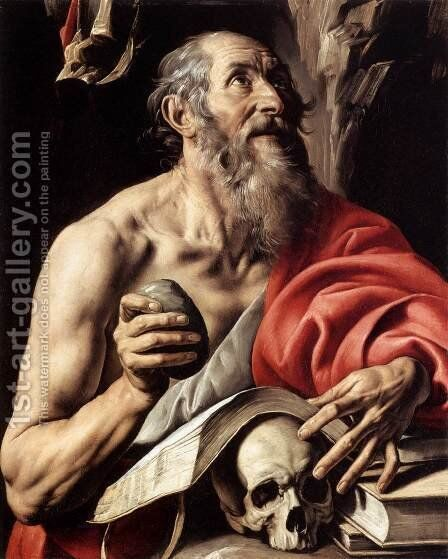 St Jerome by Tanzio da Varallo - Reproduction Oil Painting