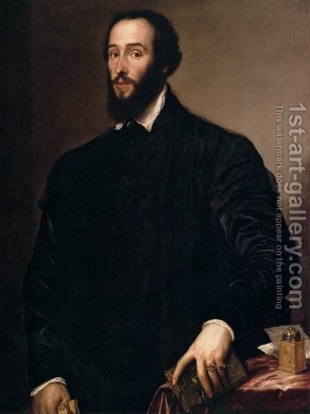 Antoine Perrenot de Granvelle by Tiziano Vecellio (Titian) - Reproduction Oil Painting