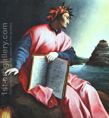 Allegorical Portrait of Dante by Italian Unknown Masters - Reproduction Oil Painting