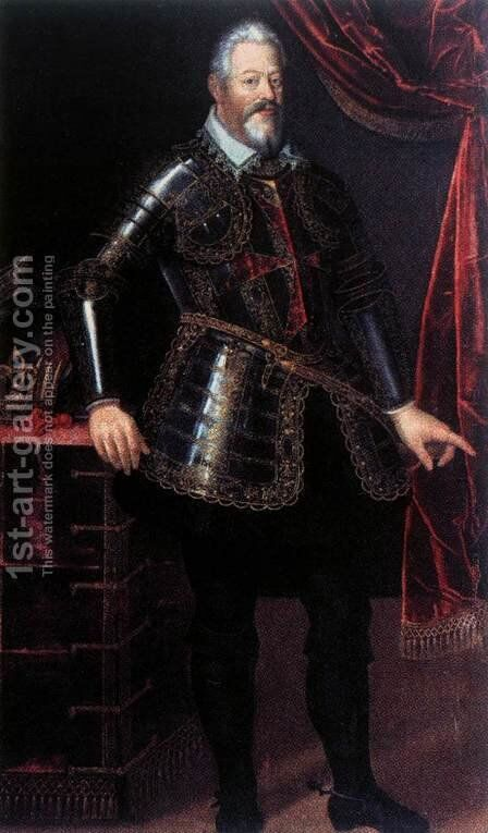 Ferdinando I de' Medici Dressed as Gran Maestro of the Order of St Stephen by Italian Unknown Masters - Reproduction Oil Painting
