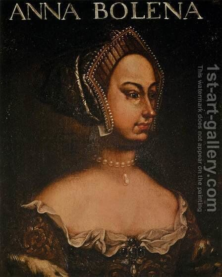 Portrait of Anne Boleyn by Italian Unknown Masters - Reproduction Oil Painting