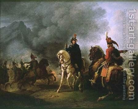 A General with his Aide de Camp by Carle Vernet - Reproduction Oil Painting