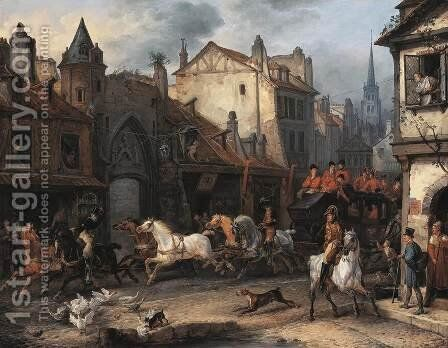 Return from the Hunt by Carle Vernet - Reproduction Oil Painting