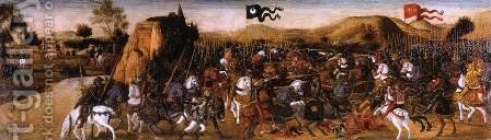 The Battle of Pydna by Andrea Del Verrocchio - Reproduction Oil Painting
