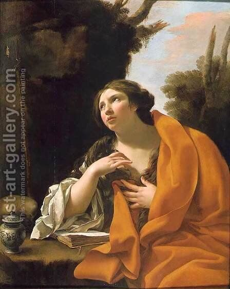 The Penitent Magdalen by Simon Vouet - Reproduction Oil Painting