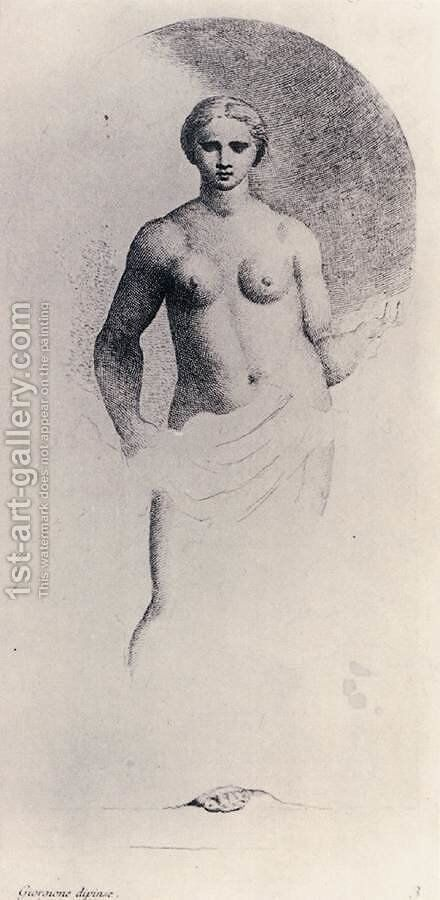 Standing Female Nude by Anton Maria Zanetti - Reproduction Oil Painting