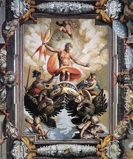 Jupiter by Jacopo Zucchi - Reproduction Oil Painting