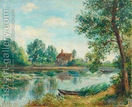 Bords du Loing a Saint Mammes by Alfred Sisley - Reproduction Oil Painting