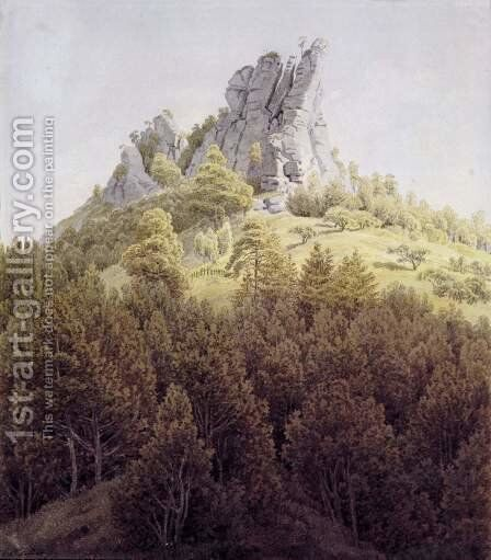 The Heldsteinnear Rathen by Caspar David Friedrich - Reproduction Oil Painting