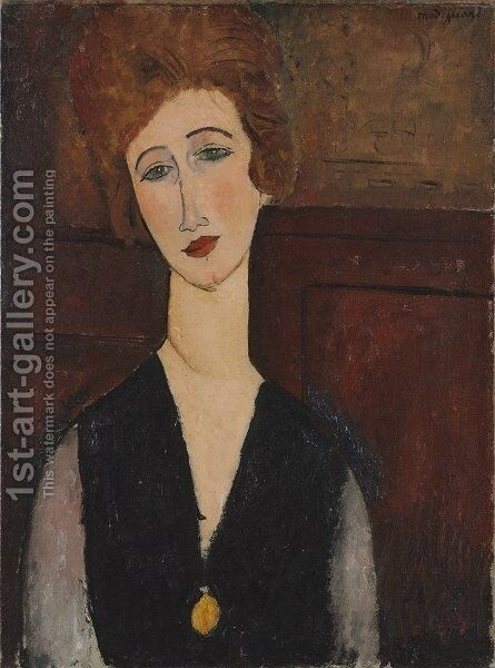 Portait of a Woman by Amedeo Modigliani - Reproduction Oil Painting
