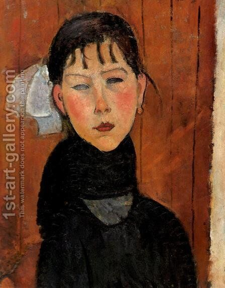 Marie Daughter of the People by Amedeo Modigliani - Reproduction Oil Painting