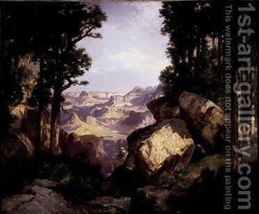 Grand Canyon of the Colorado, 1913, by Thomas Moran - Reproduction Oil Painting