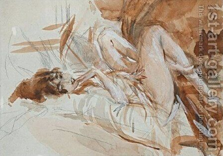 Reclining Lady by Giovanni Boldini - Reproduction Oil Painting