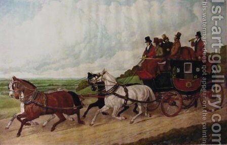 The Royal Mail Coach by John Frederick Herring Snr - Reproduction Oil Painting