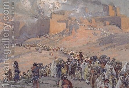 The Flight of the Prisoners by James Jacques Joseph Tissot - Reproduction Oil Painting