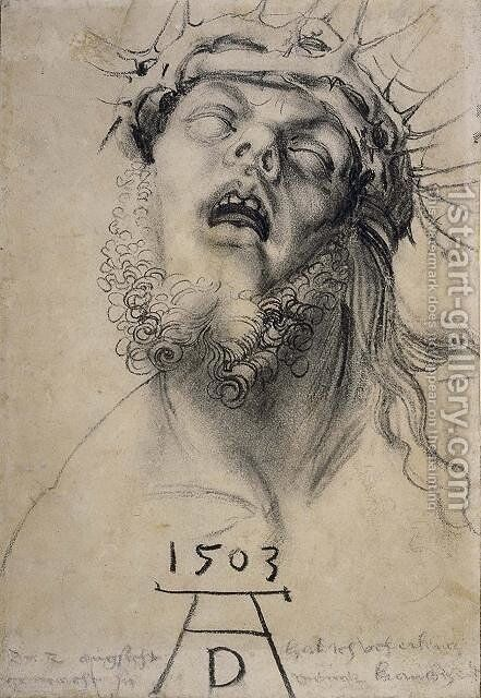 Head of christ by Albrecht Durer - Reproduction Oil Painting
