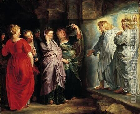 The Holy Women at the Sepulchre by Rubens - Reproduction Oil Painting