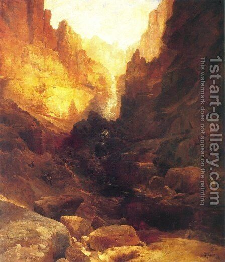 A Side Canyon of the Colorado by Thomas Moran - Reproduction Oil Painting