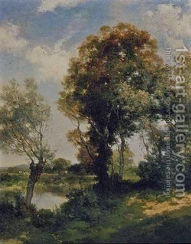 The Clearing, Long Island 1905 by Thomas Moran - Reproduction Oil Painting