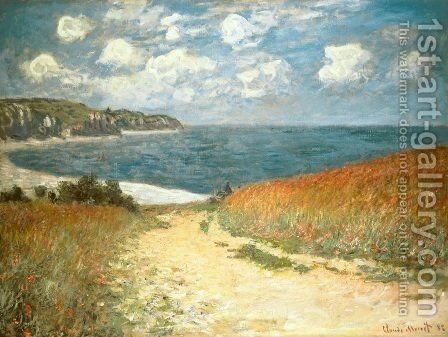 Chemin dans les Bles a Pourville by Claude Oscar Monet - Reproduction Oil Painting
