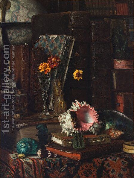 Still-life wit Shells by James Jacques Joseph Tissot - Reproduction Oil Painting