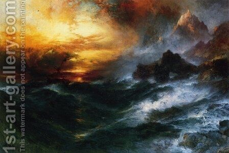 A Mountain of Loadstone by Thomas Moran - Reproduction Oil Painting
