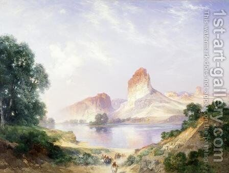 An Indian Paradise by Thomas Moran - Reproduction Oil Painting