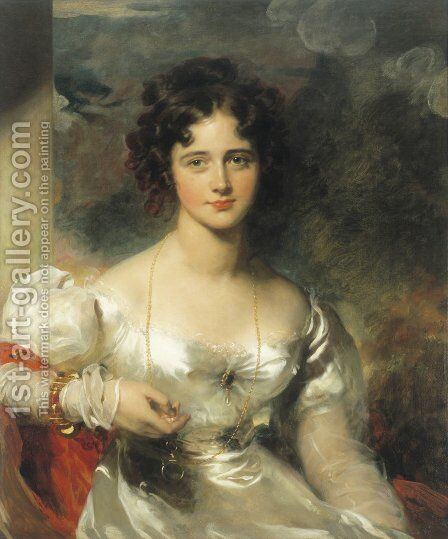 Portrait of Miss Rosamond Croker by Sir Thomas Lawrence - Reproduction Oil Painting