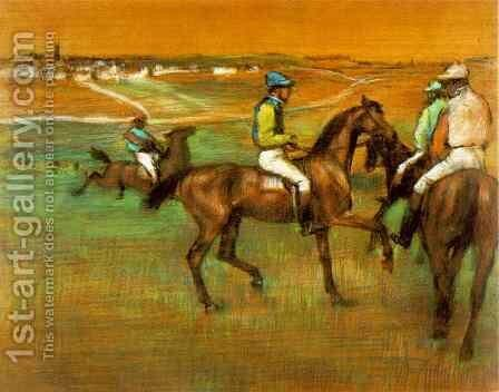 Race Horses 2 by Edgar Degas - Reproduction Oil Painting
