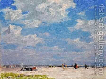 Beach Scene 3 by Edward Henry Potthast - Reproduction Oil Painting