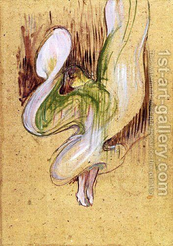 Loie Fuller in the Dance of the Veils by Toulouse-Lautrec - Reproduction Oil Painting
