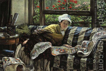 The Japanese Scroll by James Jacques Joseph Tissot - Reproduction Oil Painting