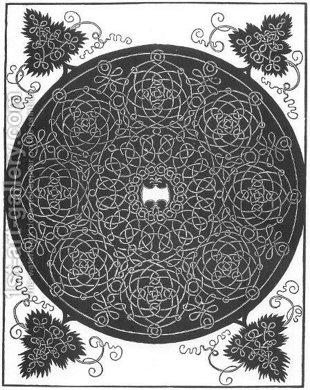 Pattern from the Series of Six Knots 3 by Albrecht Durer - Reproduction Oil Painting