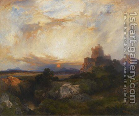 Bluebeard's Castle, 1915 by Thomas Moran - Reproduction Oil Painting