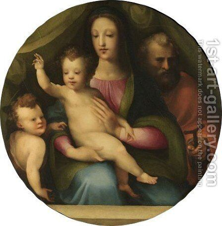 The Holy Family With The Infant Saint John The Baptist by Domenico Beccafumi - Reproduction Oil Painting