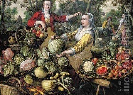 The Four Elements Allegory by Joachim Beuckelaer - Reproduction Oil Painting