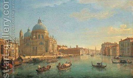 The Entrance to the Grand Canal, with the Santa Maria della Salute by Caspar Andriaans Van Wittel - Reproduction Oil Painting