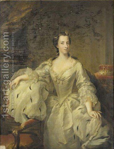 Portrait Von Prinzessin Maria by Johann Heinrich The Elder Tischbein - Reproduction Oil Painting