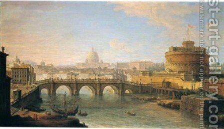 A View of Rome by Antonio Joli - Reproduction Oil Painting