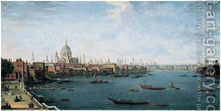 The Thames Looking Towards The City 2 by Antonio Joli - Reproduction Oil Painting