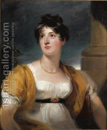 Portrait Of Anne Goddard, Lady Lethbridge (d.1857) by Sir Thomas Lawrence - Reproduction Oil Painting