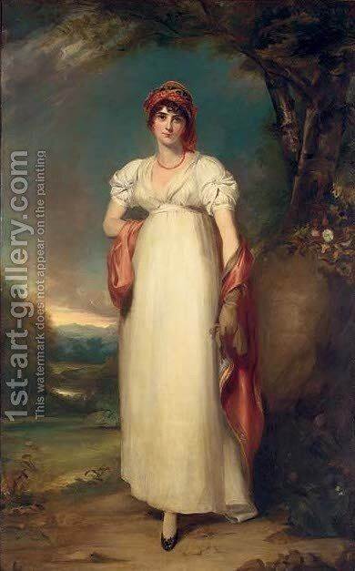 Portrait of Mrs John Halkett (d. 1805) by Sir Thomas Lawrence - Reproduction Oil Painting