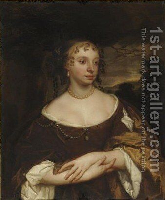 Portrait Of Alice Woodforde (nee Beale) by Sir Peter Lely - Reproduction Oil Painting