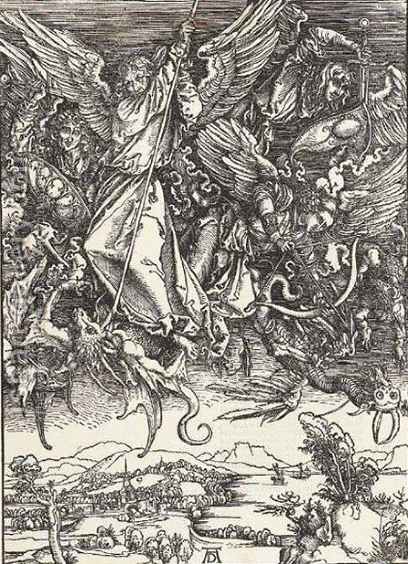 The Apocalypse 2 by Albrecht Durer - Reproduction Oil Painting