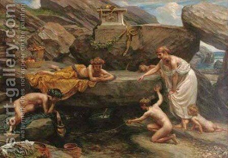 The Wonders of the Deep An Idyll by Sir Edward John Poynter - Reproduction Oil Painting
